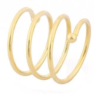 Xmas Metal Spring Shaped Lunch Napkin Serviette Holder Ring Loop Hoop Decor