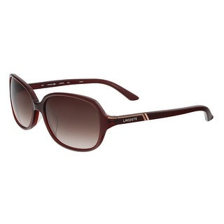 Lacoste L 656SA 604 Burgundy Rectangular Sunglasses - 58-16-135