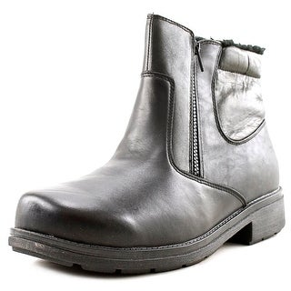 Propet Reggie Men 3E Round Toe Leather Black Boot