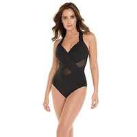 280c8f266692b Shop Miraclesuit White Colorblock DDD-Cup Helix Underwire One Piece ...