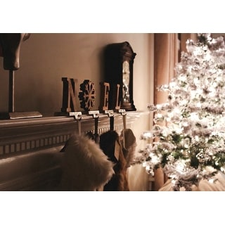 4.5' Pre-Lit Flocked Alaskan Artificial Christmas Tree - Clear Lights