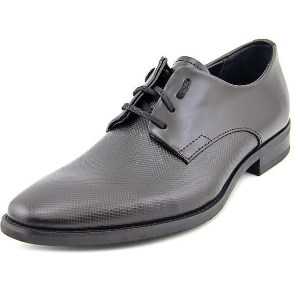 Calvin Klein Ramses Men  Plain Toe Leather Brown Oxford