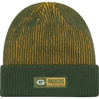 New Era Green Bay Packers Sideline Tech Knit Stripe Beanie Cap Hat NFL 11288977