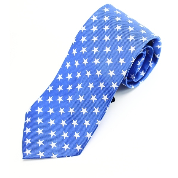 028dc731b7 Lord & Taylor Royal Blue White Stars Men's Classic Neck Tie Silk