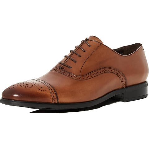 To Boot New York Mens Mezo Cap Toe Oxfords Leather Lace-Up - Cuoio Ant