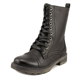 Wanderlust Holly Women W Round Toe Synthetic Black Boot