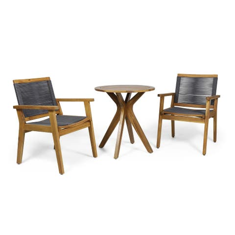 Mcgill Outdoor Acacia Wood Bistro Set by Christopher Knight Home