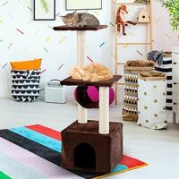 Gymax 37'' Cat Tree Condo Furniture Play Toy Scratch Post Kitten Pet House Coffee