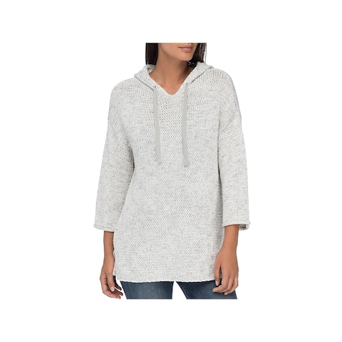 Bobeau Womens Nori Pullover Sweater Marled Hooded - XS