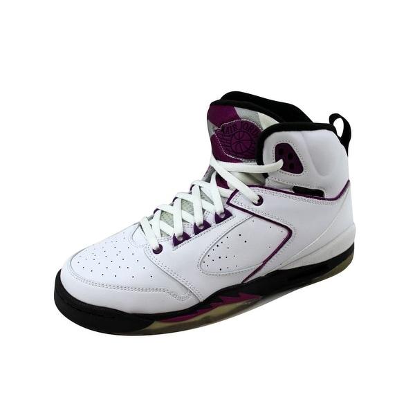d74b9610ebb780 Shop Nike Grade-School Air Jordan Sixty 60 Plus White Red Plum-Black ...