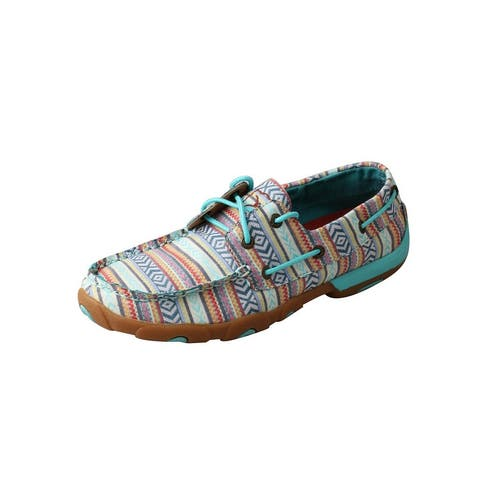Twisted X Casual Shoes Women Driving Moc Aztec Turquoise