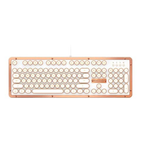 Azio Retro Classic USB Backlit Mechanical Keyboard (Posh)