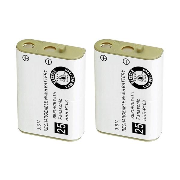 Replacement Battery For Panasonic KX-TGA230B Cordless Phones - P103 (750mAh, 3.6V, NiMH) - 2 Pack