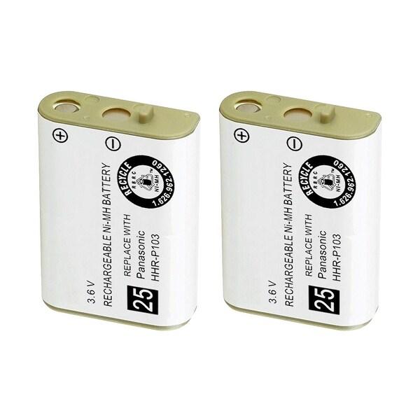 Replacement Battery For Panasonic KX-TGA230W Cordless Phones - P103 (750mAh, 3.6V, NiMH) - 2 Pack