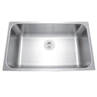 """Mirabelle MIRUC309 30"""" Single Basin Stainless Steel Kitchen Sink - Undermount In"""
