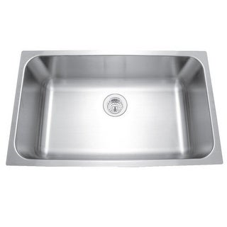 "Mirabelle MIRUC309 30"" Single Basin Stainless Steel Kitchen Sink - Undermount In"