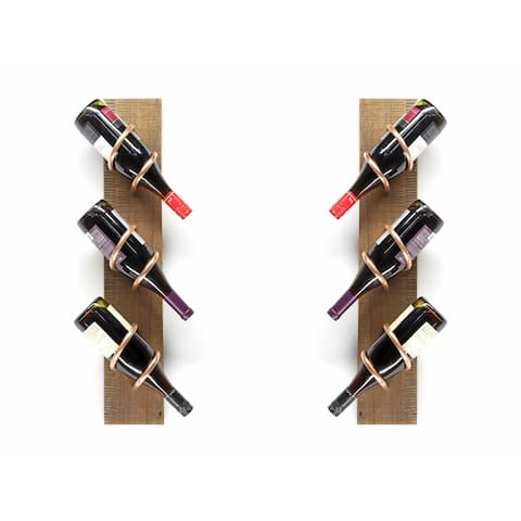 Handmade Barn Wood Wine Rack Set (USA)
