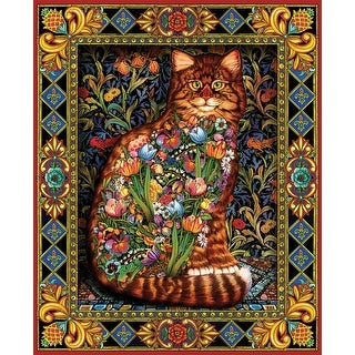 "Tapestry Cat - Jigsaw Puzzle 1000 Pieces 24""X30"""
