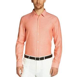 Hugo Boss Men s Ronni Slim Micro Diamond Pattern Button Down Shirt XX-Large  XXL 0ddd9185c