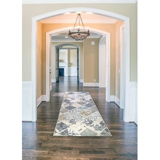 Link to Newruz Collection Lotus Non-Slip Runner Rug Similar Items in Rugs
