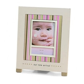 "Gund ""Our New Arrival"" Baby Picture Frame, Pink"