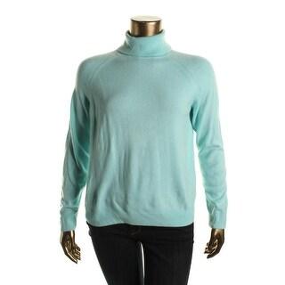 Karen Scott Womens KNit Turtleneck Pullover Sweater
