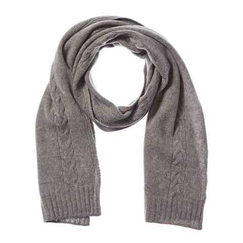 Portolano Cable Knit Cashmere Scarf - LT HTH GREY - NoSize
