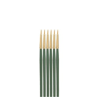 Sax Optimum Golden Synthetic Taklon Short Handle Brushes, Round, Size 0, Pack of 6