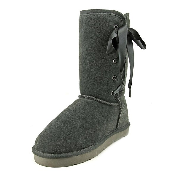 Style & Co Aiciah Women Round Toe Suede Black Winter Boot