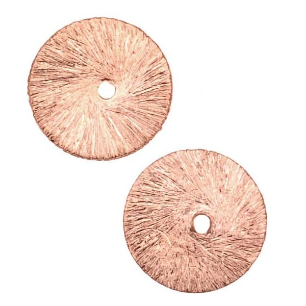 Brushed Copper Satin Round Flat Pailette Beads 12mm (12 Beads)