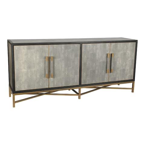 Aurelle Home Milton Solid Oak and Brass Sideboard
