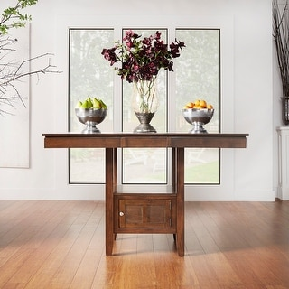 Link to Marsden Brown Mission Extending Counter Height Dining Table by iNSPIRE Q Classic - Dining Table Similar Items in Dining Room & Bar Furniture