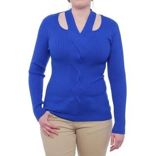XOXO Borderline Cut Out V-Neck Sweater Women Regular Sweater