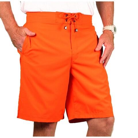 Blue Marlin Men's Stretch Solid Color Board Shorts