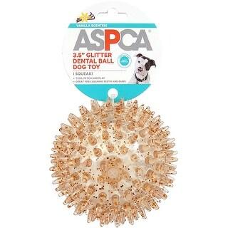 "Orange - ASPCA 3.5"" Glitter Dental Ball Dog Toy"