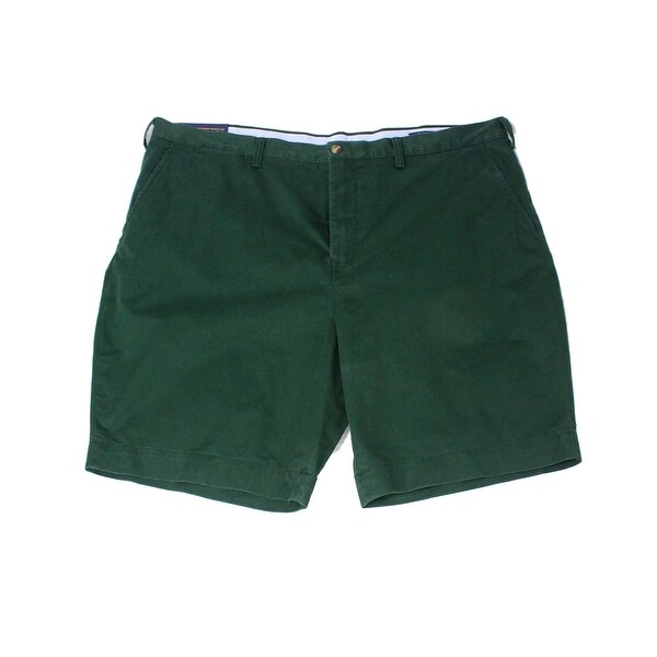 9c5f1a5bc0 Shop Polo Ralph Lauren Green Men 36 Classic Fit Flat Front Chino Shorts - Free  Shipping On Orders Over $45 - Overstock - 28111348