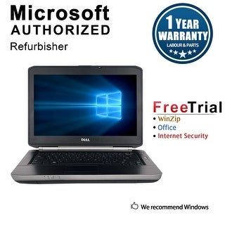 "Refurbished Dell Latitude E5430 14.0"" Laptop Intel Core i5 3320M 2.6G 4G DDR3 500G DVDRW Win 7 Pro 64 1 Year Warranty - Black"
