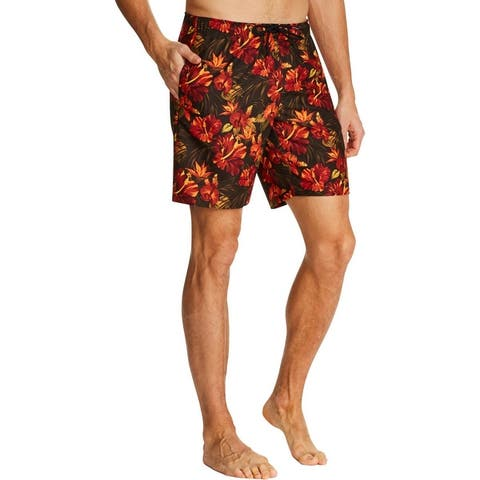 Tallia Sport Mens Floral Swimwear Board Shorts - Multi