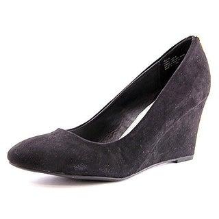 Rampage Keaton Women Open Toe Synthetic Black Wedge Heel