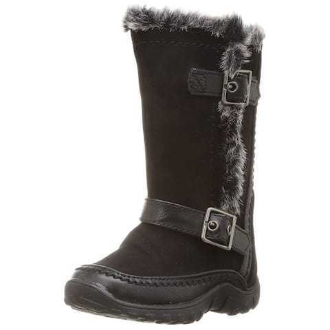 Kids Nine West Girls Naydine Mid-Calf Zipper Chelsea Boots