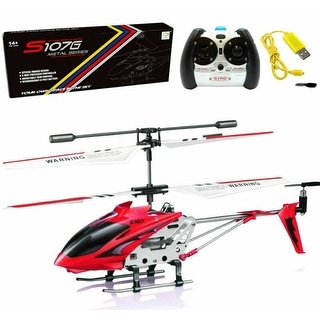 Shop Syma S107g 3ch 3 5ch Mini Metal Rc Helicopter Red Remote Control Vehicle Overstock 28254832