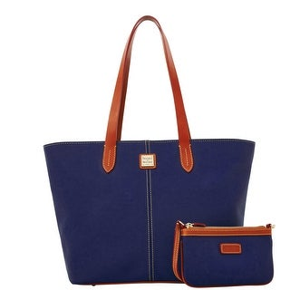 Dooney & Bourke Eva Large Zip Shopper and Wristlet (Introduced by Dooney & Bourke at $268 in Feb 2016) - Navy