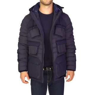 Moncler Men's 'Mitla' Wool Blend Down Jacket Navy Blue