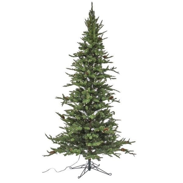"9' x 60"" Pre-Lit Medium Pine Artificial Christmas Tree – Warm White Lights"