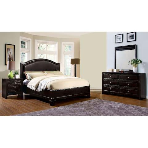 4 Piece Bedroom Set WIth One Nightstand, Espresso