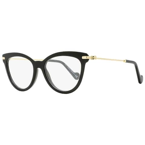Moncler ML5018 001 Womens Shiny Black/Gold 53 mm Eyeglasses - Shiny Black/Gold - Shiny Black/Gold