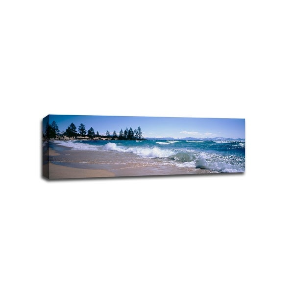 Lake Tahoe - Beach Photography - 48x16 Gallery Wrapped Canvas Wall Art
