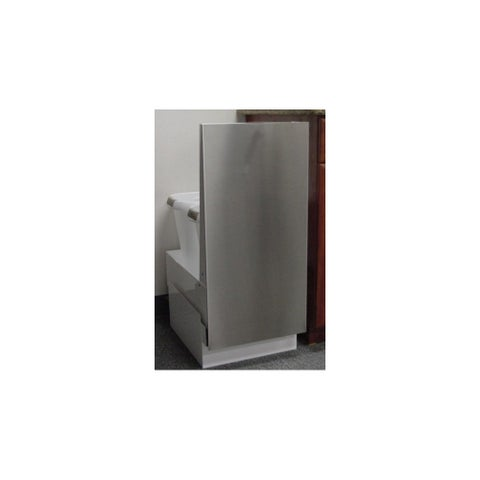 """Imperial RC15 15"""" Recycling Cabinet for Two 41 Quart Trash Cans from the RC Seri - N/A"""