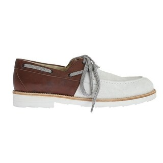 Dolce & Gabbana White Brown Leather Shoes - eu44-us11