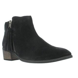MIA Emerson Tassel Ankle Boots, Black